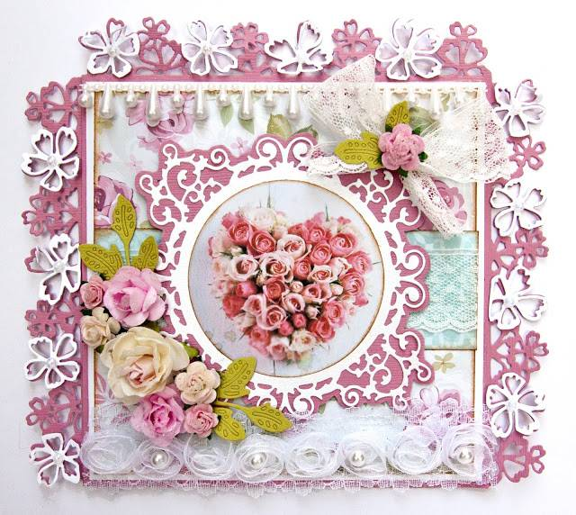 Joy!Crafts Punching and embossing template: Border with flowers