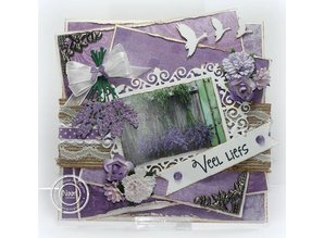 Joy!Crafts und JM Creation Punching and embossing template: Lavender