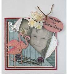 Joy!Crafts und JM Creation Stansning og prægning skabelon: Flamingo