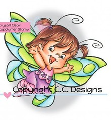 C.C.Designs Transparent Stempel, Butterfly Twilla