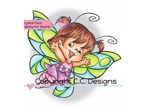 C.C.Designs Gennemsigtige frimærker, Butterfly Twilla