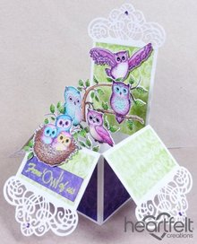 "Heartfelt Creations aus USA Gummi stempel sæt ""Sugar Hollow"""