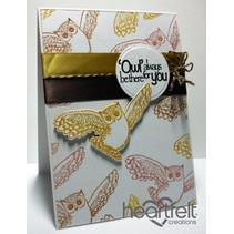 """Rubber stamp set """"It's Owl Good"""""""