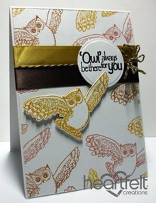 "Heartfelt Creations aus USA Rubber stamp set ""It's Owl Good"""