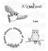 "Heartfelt Creations aus USA Gummistempel Set ""It's Owl Good"""