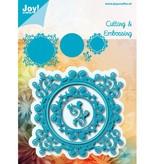 Joy!Crafts und JM Creation Troquelado y estampado en relieve plantilla: marco decorativo
