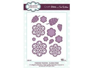 Creative Expressions Punching and embossing template: Classic Rose