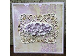 Creative Expressions Troquelado y estampado en relieve plantilla: Rose Classic