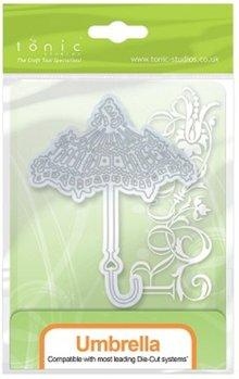 TONIC Stansning og prægning skabelon: nostalgisk paraply