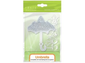TONIC Punching and embossing template: nostalgic umbrella