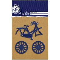 Troquelado y estampado en relieve plantilla: bici Aurelie