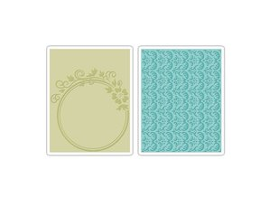 Sizzix Embossing folders, 2 pieces, with flowers and rosemary Design