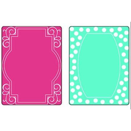 Sizzix Gofrado carpetas, 2 piezas, marco con remolinos y marcos con puntos