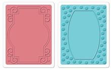 Sizzix Prægning mapper, 2 stykker, ramme med hvirvler og rammer med point
