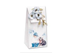BASTELSETS / CRAFT KITS: Juego completo de 4 cartas y 4 bolsas de regalo !!