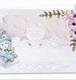 BASTELSETS / CRAFT KITS: Komplettset für 4 Karten und 4 Geschenktaschen !!