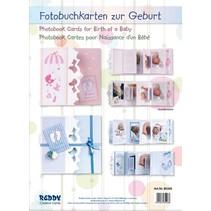 Komplettset für Fotobuchkarten Geburt Junge/ Mädchen