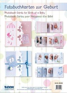BASTELSETS / CRAFT KITS: Komplettset für Fotobuchkarten Geburt Junge/ Mädchen