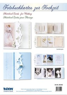 BASTELSETS / CRAFT KITS: Set completo per i biglietti photo book per il matrimonio