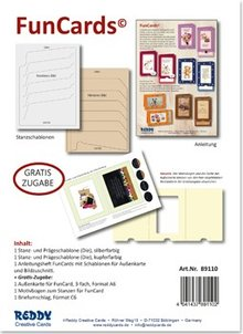 Spellbinders und Rayher 2 punching and embossing templates for slide card!