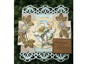 Creative Expressions to frame 3D Flowers: stamping and embossing stencil