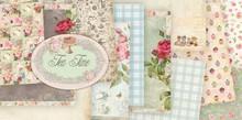 """Designer Papier Scrapbooking: 30,5 x 30,5 cm Papier Designersblock Vintage """"Tea Time"""", 30,5 x 30,5 cm"""