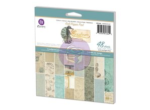 "Prima Marketing und Petaloo Designer Block, 15,24 x 15,24 cm, ""Seashore"""