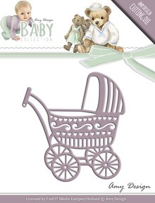 Amy Design Punching and embossing template: nostalgic pram
