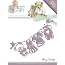 Troquelado y estampado en relieve plantilla: Colección del bebé