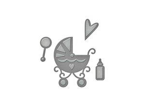 Spellbinders und Rayher Stansning og prægning skabelon: Babysachen
