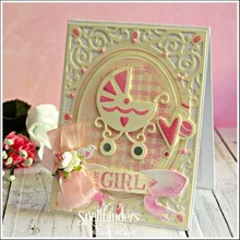 Spellbinders und Rayher Punching and embossing template: Babysachen
