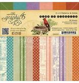 Graphic 45 Designerblock, 15,2 x 15,2cm, Time to Flourisch