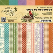 Graphic 45 Designer Block, 15,2 x 15,2 cm, Tempo di Flourisch