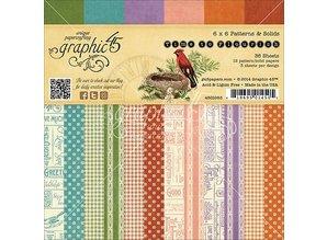 Graphic 45 Bloque diseñador, 15,2 x 15,2 cm, Tiempo de Flourisch