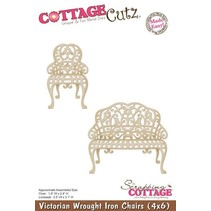 Stansning og prægning skabelon: victorianske stol og bænk