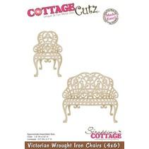 Stanz- und Prägeschablone: Victorianische Stuhl und Sitzbank