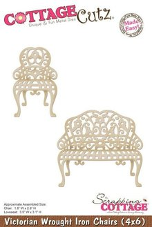 Cottage Cutz Punching and embossing template: Victorian chair and bench