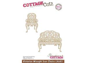 Cottage Cutz Troquelado y estampado en relieve plantilla: silla y banco de estilo victoriano
