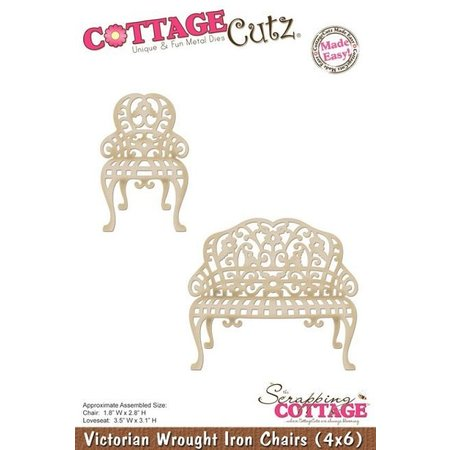 Cottage Cutz Stanz- und Prägeschablone: Victorianische Stuhl und Sitzbank