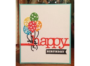 Cottage Cutz Punching and embossing template: Balloon Bouquet