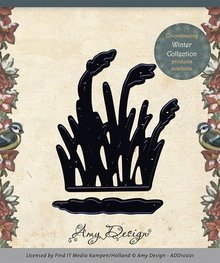 Amy Design Punching and embossing template: Reetgras