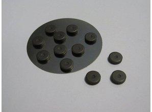 Embellishments / Verzierungen 12 Mini Magneten 12 mm x 2 mm