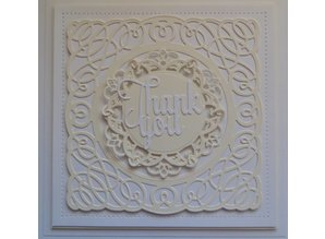 Spellbinders und Rayher Punching and embossing template: Shapeabilities, Tangled Spirals