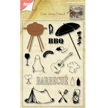 Transparent Stempel + Stanzschablone Barbecue!