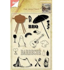 Joy!Crafts und JM Creation Trasparente francobolli + punzonatura giga barbecue!