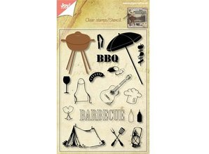 Joy!Crafts und JM Creation Transparent stamps + punching jig Barbecue!