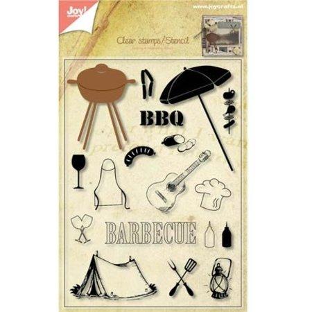 Joy!Crafts und JM Creation Transparent Stempel + Stanzschablone Barbecue!