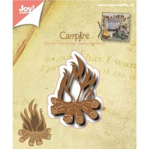 Punching and embossing template: Campfire