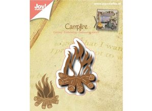 Joy!Crafts und JM Creation Punching and embossing template: Campfire