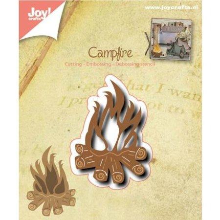 Joy!Crafts und JM Creation Stansning og prægning skabelon: Campfire